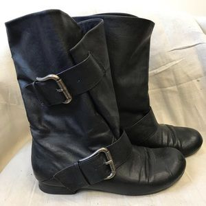 Black Aldo Boots with Buckles